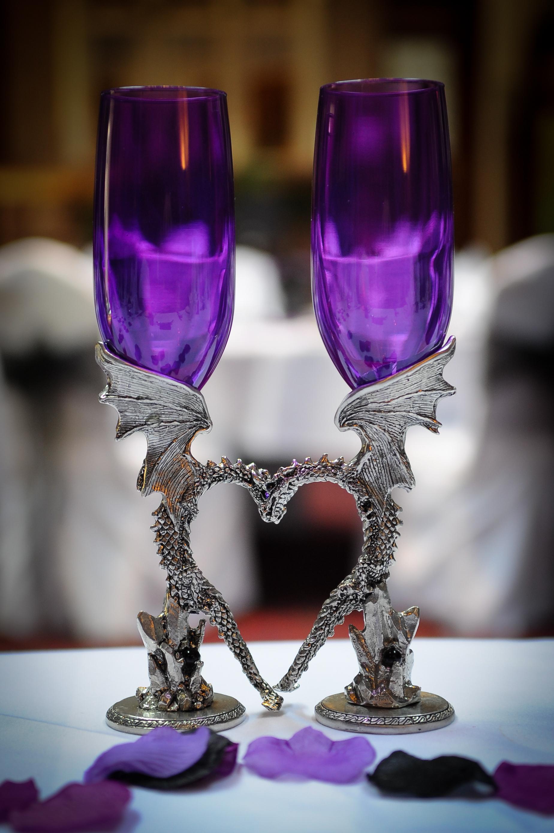Romantic Fantasy Toasting Flutes Gothic Enchantments